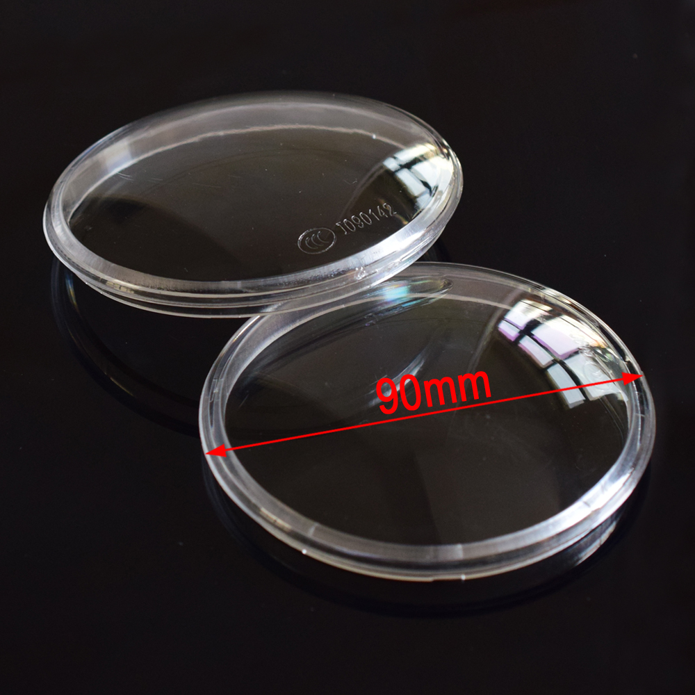 2pcs Round Diameter 90mm Fog Lamp Lights Plastic Cover For <font><b>Ford</b></font> <font><b>Focus</b></font> <font><b>MK2</b></font>/3 Fusion Fiesta Tourneo Custom Connect Transit Tourneo image