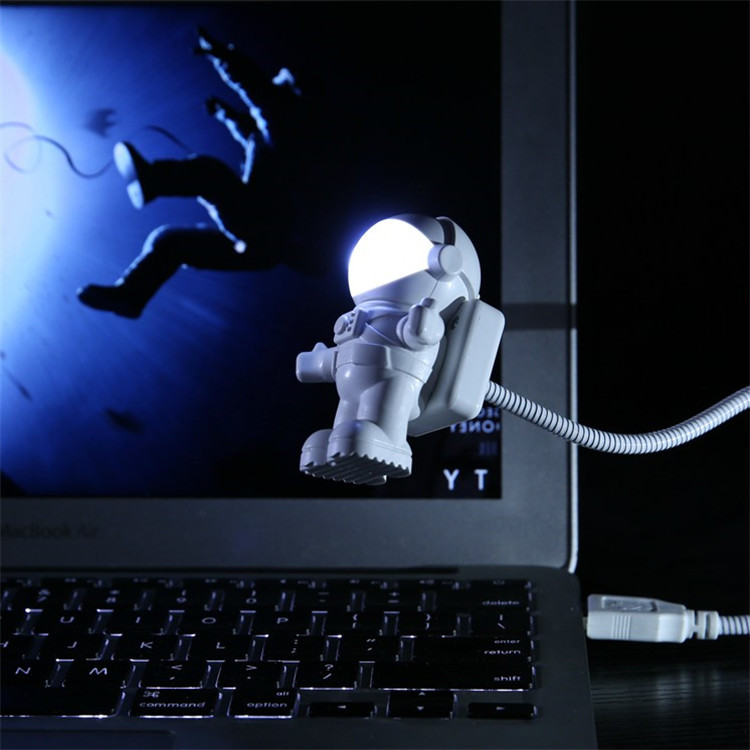 2019 Creative Gift Cool Astronaut Spaceman USB LED Tube Adjustable Night Light For Computer Notebook Lamp Desk Light Dropper