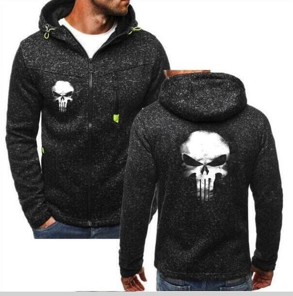 Punisher Skull Cosplay Coat Zipper Hoodie Unisex New 2020 Sweatshirts