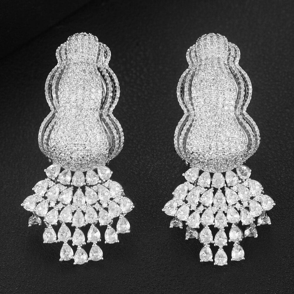 GODKI célèbre Noble luxe gland balancent pendentif boucles d'oreilles pour les femmes mariée fête de mariage spectacle quotidien boucles d'oreilles nouveau bijoux chauds 2020
