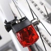 Luz conduzida da bicicleta à prova dwaterproof água nenhuma bateria magnética luz traseira fácil de instalar noite luz de advertência da bicicleta acessórios