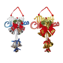 1PC Christmas Decorations Large bells Double Bells tree Hanging Pendant for Home