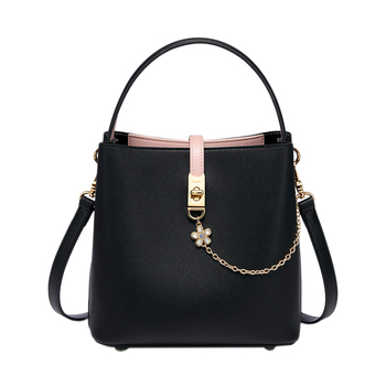 JUST STAR Brand PU Leather Ladies Tote Purse Fashion Bucket Crossbody Bags Chains Women's Handbags