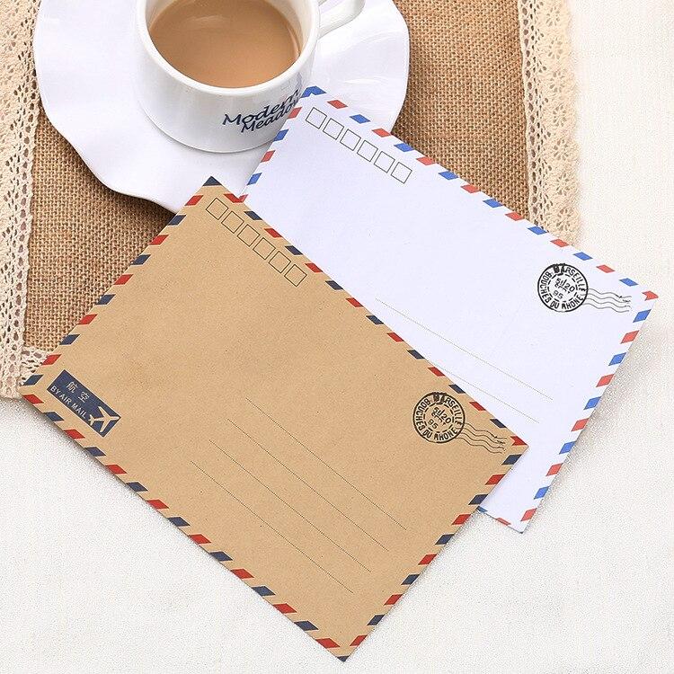 Classic Aviation Western-style Envelope Customizable Retro Kraftpaper Mini Envelope Manufacturers Wholesale-Printing Bronze Logo