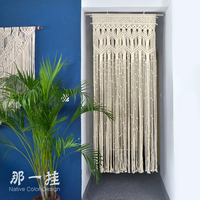 Customized Door Curtains Handmade Tapestry Curtain Cotton Thread Weaved Curtain for Kitchen Decoration Modern Curtain for Window