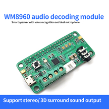 WM8960 Hi-Fi Sound Card HAT for Raspberry Pi Stereo CODEC Play/Record I2S Port Dual Micphone Voice Recognition Board