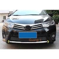 Toyota Corolla Altis 2014 2015 2016 자동차 커버 범퍼 엔진 ABS 크롬 트림 전면 하단 그리드 그릴 그릴 후드 엣지 1pcs