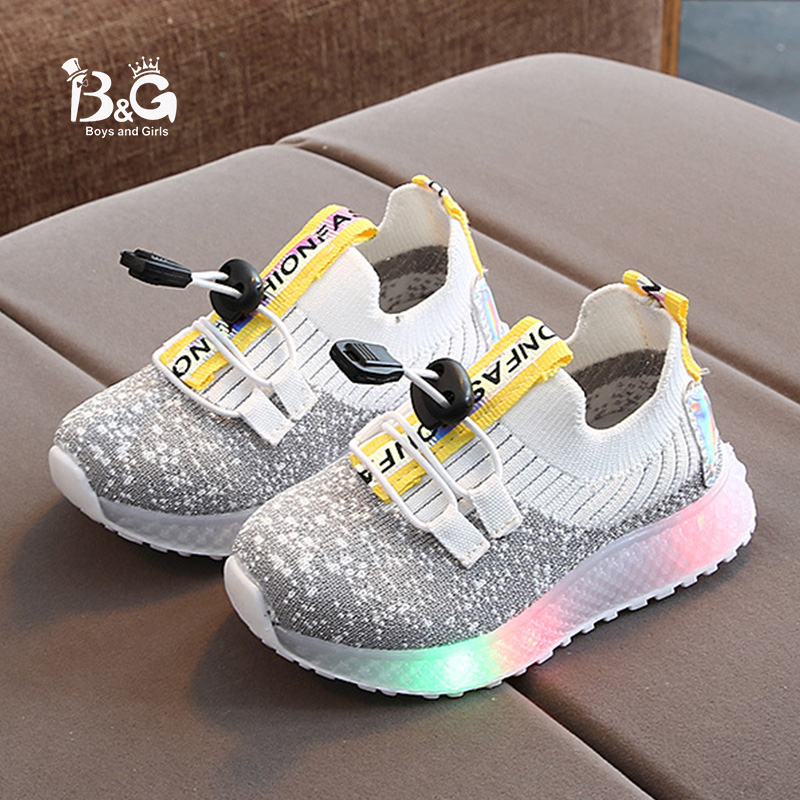 2020 Baby LED Light Walking Shoes For Boys And Girls Colorful Sports Shoes For Children Single Footed Shoes