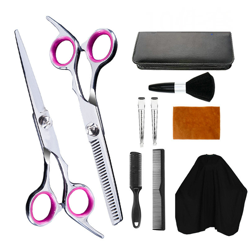 Professional Hairdressing Scissors Kit Hair Cutting Scissors Hair Scissors Tail Comb Hair Cape Hair Cutter Comb