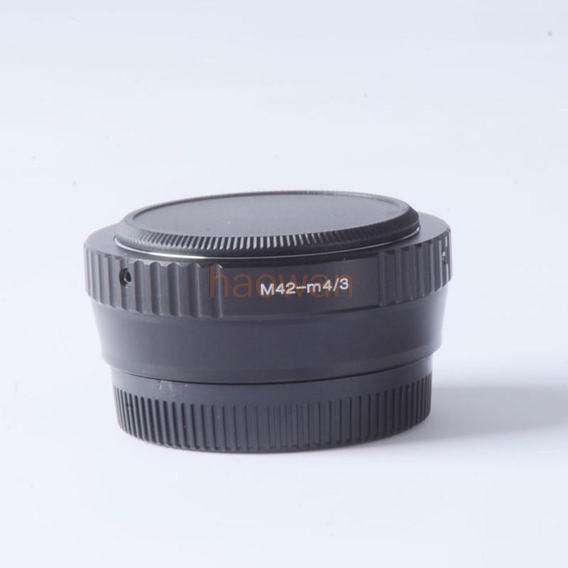 M42-m43 odak düşürücü hız yükseltici Turbo adaptörü için 42mm m42 Lens için panasonic m4/3 kamera GF6 GX7 gh4 gh5 EM5 EM1 em10 E-PL5