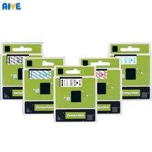 5pcs 9MM Multicolor 40910 40922 40913 40922 40923 40924 Compatible Dymo D1 Label Label