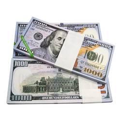 Joss papel céu inferno notas banco moeda prop ancestral dinheiro dólar (us.1000) feng shui aniversários lembrança boa sorte