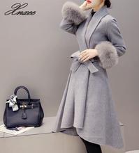 Xnxee Woolen Coat Women Overcoat Autumn Warm Long Wool Coat Fashion Winter Jacket Women S-4XL