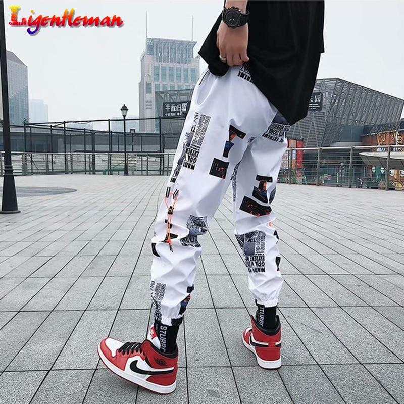 Men Casual Fitness Pants Couples Harem Pants Ankle Length Trousers Men Hip Hop Pants Men Loose Joggers Print Streetwear