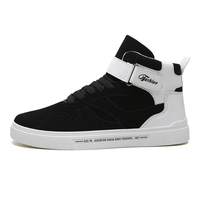 Trend Männer Basketball Schuhe High Top Walking Schuh Männer Stiefeletten Athletisch Skate bord Turnschuhe Schwarz Weiß Chaussure Homme Sport