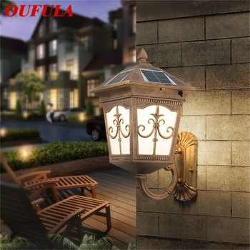 OUFULA Outdoor WallLedLight Solar Patio Modern Sconce LED Waterproof Lighting For Porch Balcony Courtyard Villa - DISCOUNT ITEM  32 OFF All Category