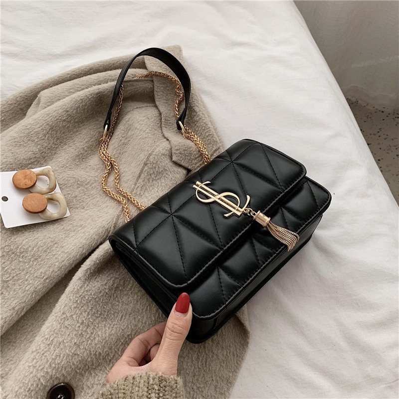 Fringed Chain Small Flap Bags For Women 2019 Fashion Soft Leather Crossbody Bags Ladies Messenger Shoulder Handbags