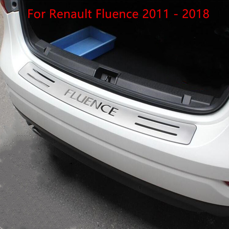 Hohe qualität edelstahl hinten fensterbank panel, hinterer Stoßdämpfer-schutz-schwelle Für Renault Fluence 2011 - 2018 Auto-styling