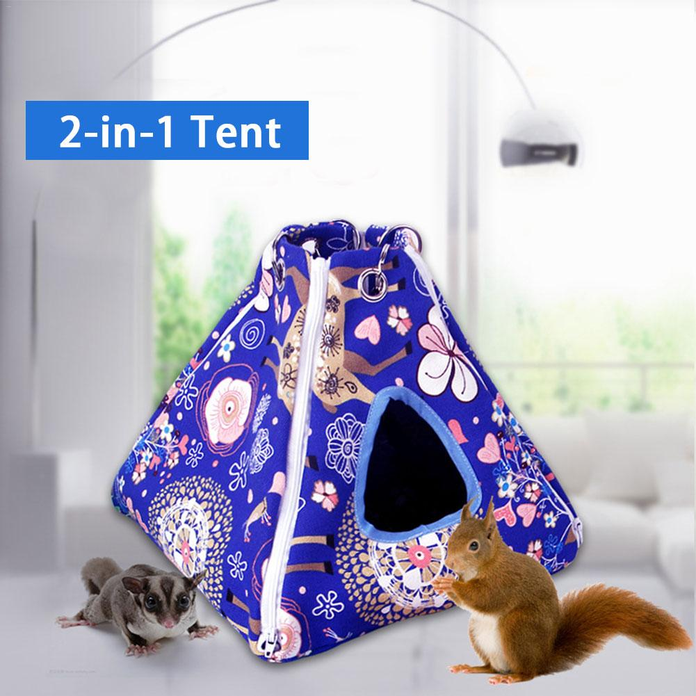 Pet Hammock Small Animal Sleeping Bed House Playing Tent Washable Hamster Cage For Hamster Ferret Guinea-Pig Parrot 20E