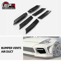 Carbon Voorbumper Vent Voor Nissan 370Z Z34(2009 +) wbs Stijl Glasvezel/Frp Koude Lucht Intake Duct Body Kit Trim Voor 370Z Racing