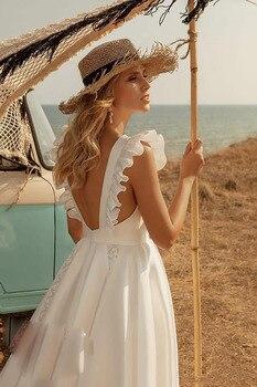 Robe de Mariage Courte Bohème Romantique Kelly