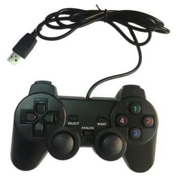 Wired Gamepad Joystick USB2.0 Shock Joypad Gamepads Game Controller For PC Laptop Computer Win7/8/10/XP/Vista image