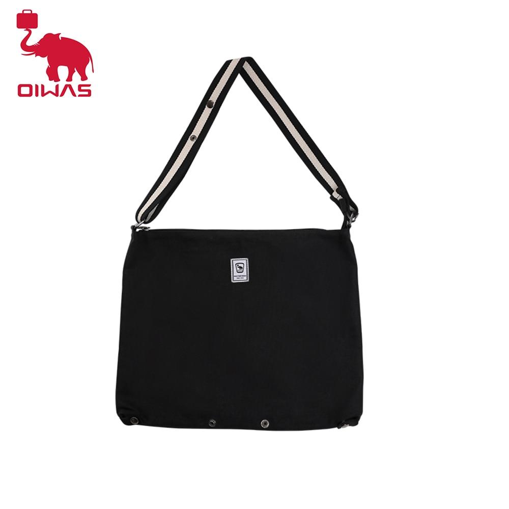 OIWAS Casual Crossbody Shoulder Bag Men Female Canvas Cloth Shoulder Bag Environmental Storage Foldable Travel Shopping Bag