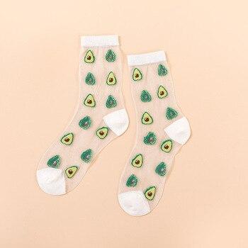 Novelty Harajuku New Product Crystal Silk Tide Socks Funny Sunflowers Vines Flowers Happy Women Socks Casual High Quality Sox 18