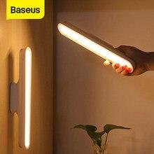 Baseus LED Veilleuses Magnétique Armoire Chaud/Mélange/Blanc Modes Gradation progressive USB Lampe de Table de Bureau pour La Maison Dortoir