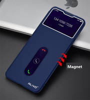 Funda de cuero para teléfono Vivo X60 Pro, carcasa de ventana inteligente con tapa magnética, para Vivo X60 Pro, X50 Pro, X 60, 50 Pro