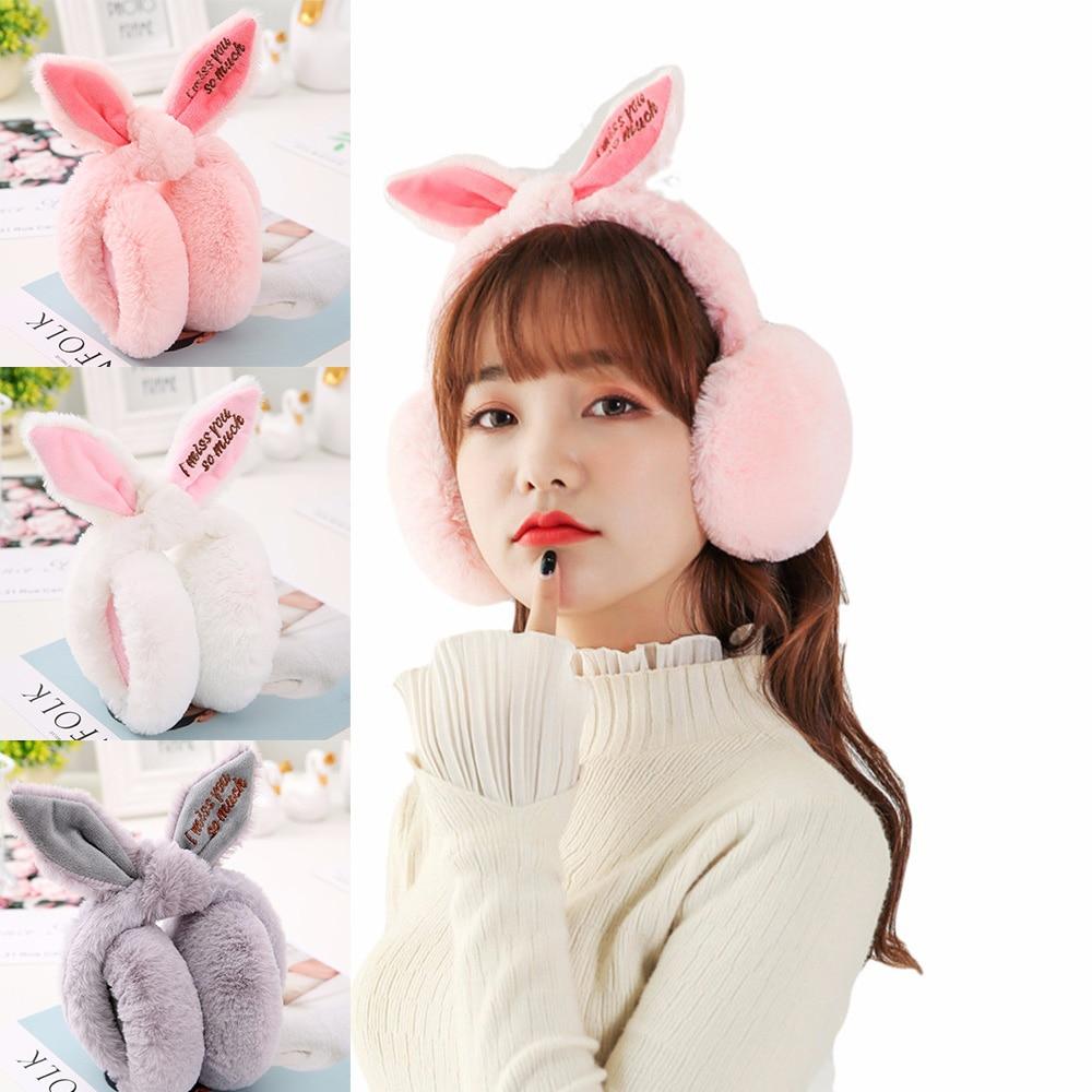Adjustable Foldable Earflap Furry Soft Child Warm Earmuffs Winter Ear-warmers Winter Casual Warm Ear Muffs Ear Flaps Women Girls