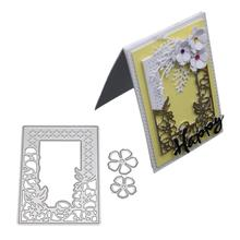 DishyKooker Background Dies and Embossing Scrapbooking Cutting Dies 2018 DIY Decoration naifumodo dies lace frame metal cutting dies new 2019 for scrapbooking card making album embossing die cut new template