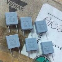 50 pçs novo ph bc mkt370 0.47 uf/63 v p5mm capacitor de filme vishay 474/63 v mkt 370 470nf 0.47uf 63v 474