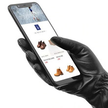 Original Qimian Men /women Lambskin Touch Screen Gloves from Spanish Raw Materials