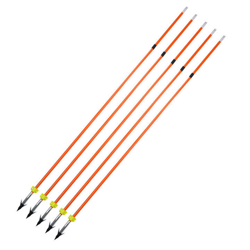 10 16pcs 32inch Archery Fishing Fiberglass Arrow Hunting Bowfishing Safety Slider Fishing Arrowhead Outdoor Shooting Accessories in Bow Arrow from Sports Entertainment