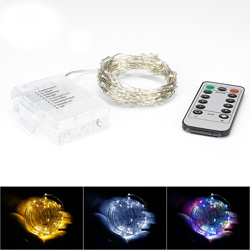 LED String Strip Bar Lamp Garlands Battery Powered RGB Warm White Holiday Festival Ice Curtain Wedding Lights For Party Fairy Ch
