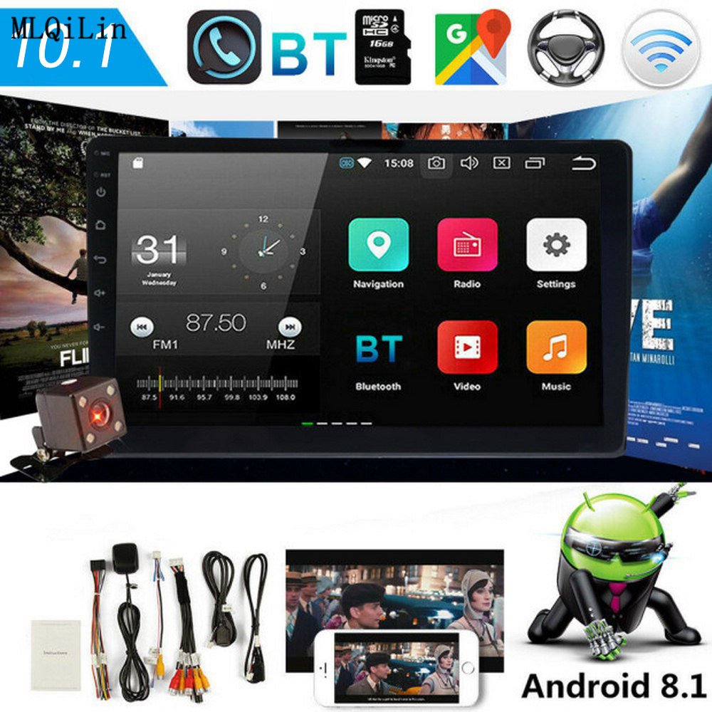 Android 8.1 2 Din Car radio Multimedia Video Player 10.1 inch Touch Screen MP5 Player Auto radio WIFI Bluetooth GPS Audio|Car Multimedia Player| - AliExpress