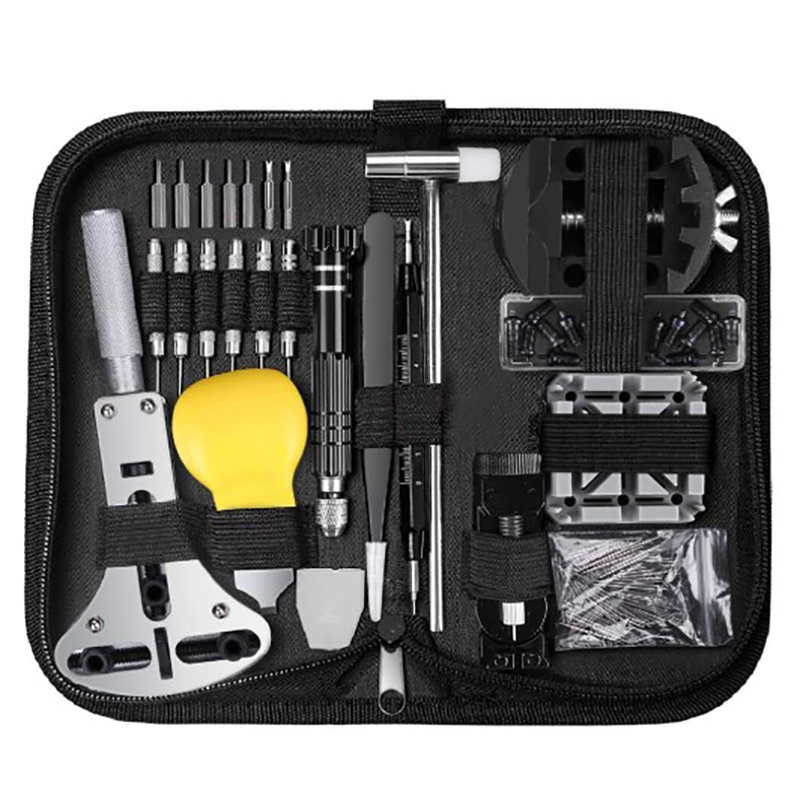 153 Pcs Watch Repair Kit Professional Spring Bar Tool Set,Watch Battery Replacement Tool Kit,Watch Band Link Pin Tool Set