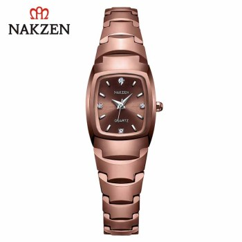 NAKZEN Quartz Ladies Watch Luxury Diamond Wristwatch Life Waterproof Watch for Women Clock Montre Femme Casual Relojes De Mujer new longbo luxury brand women watch gold ceramic bracelet lady quartz watch waterproof ladies clock relojes mujer montre femme