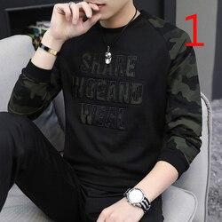 Hong Kong 2019 neue lange-ärmeln baumwolle t-shirt männer Koreanische version der trend der männer der herbst jacke