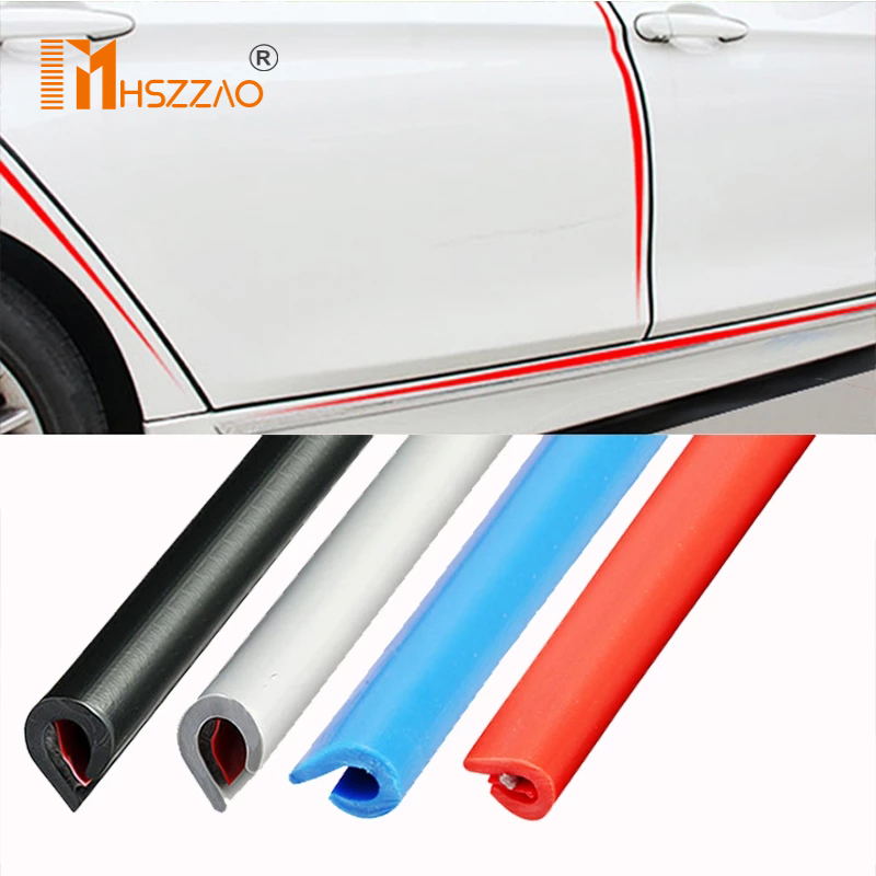 Утолщенные резиновые защитные ленты для автомобильных дверей 5 м/10 м, молдинги для боковых дверей, клейкая Защита от царапин для автомобилей