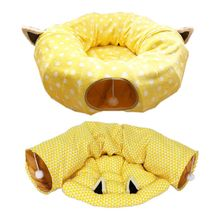 Pet Cat Litter Cushion Folding Tunnel Channel Rolling Rest Sleeping Bag Toy Environmental Protection Puzzle Removable Toys