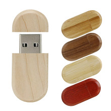 Stick 64GB 128GB Holz Usb-Stick Oval Usb Stick 32GB Stift Stick 8GB 16 4 gb Flash Disk für Geschenk Thumb stick Individuelles logo