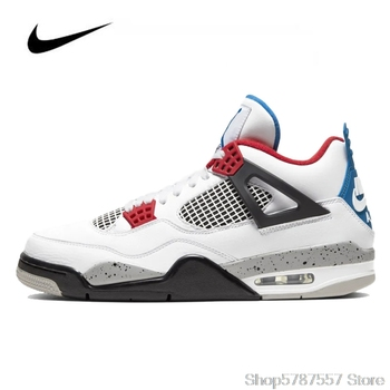 цена на Nike Air Jordan 4 Men's Basketball Shoes Original High Top Jordan Sneakers Basketball Shoes Men Unisex Women CI1184-146