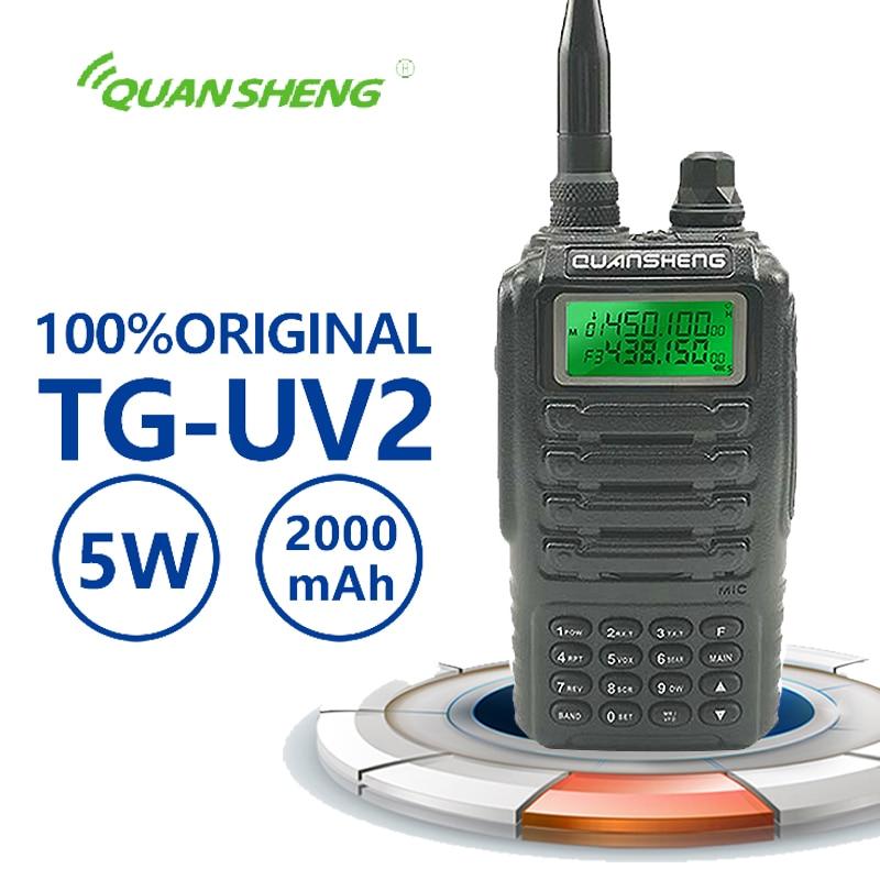 New Quansheng TG-UV2 High Quality Powerful 5W Walkie Talkie Vhf Walkie Talkie Radio Cb Scanner Transceiver Radio Communication