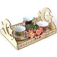 Eid Mubarak-Decoración de Ramadán de madera para decoración, bandeja de comida, regalos musulmanes islámicos, Mubarak, 2021
