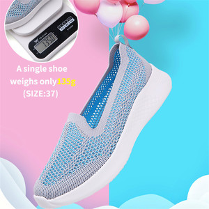 Image 5 - 2020 new spring and summer flying weaving leisure set of flat flat fashion mother shoes a pedal lazy womens shoes
