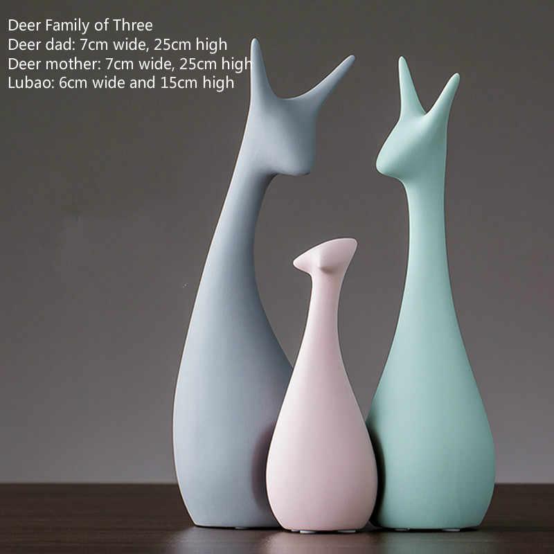 Animal Figurines Home Decoration Accessories Nordic Vintage Home Decor Crafts