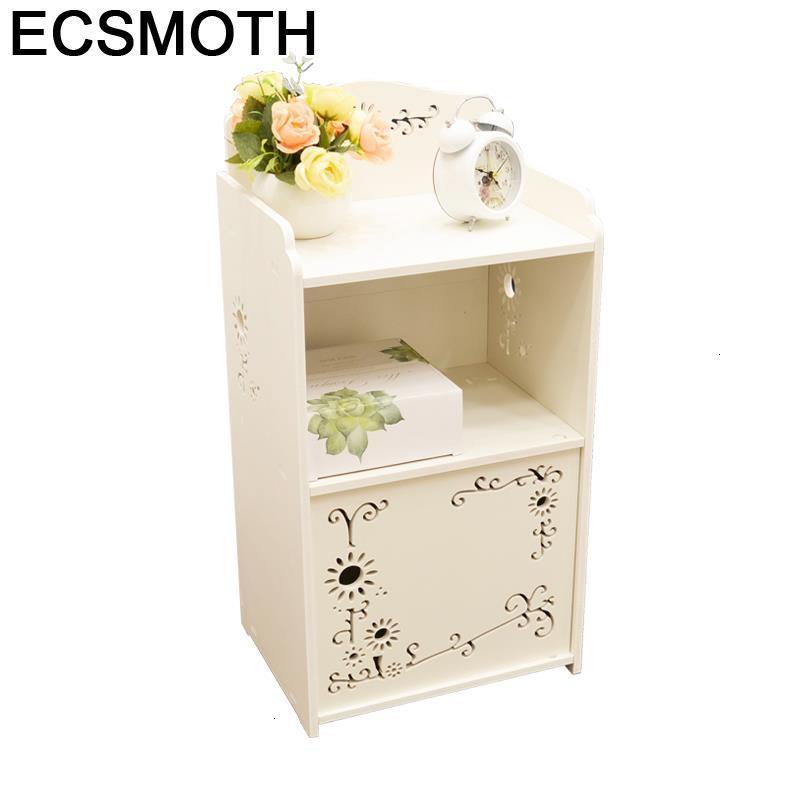 Suporte coreano mesita noche mobilya komidin europeu quarto de madeira móveis armário mueble de dormitorio mesa de cabeceira