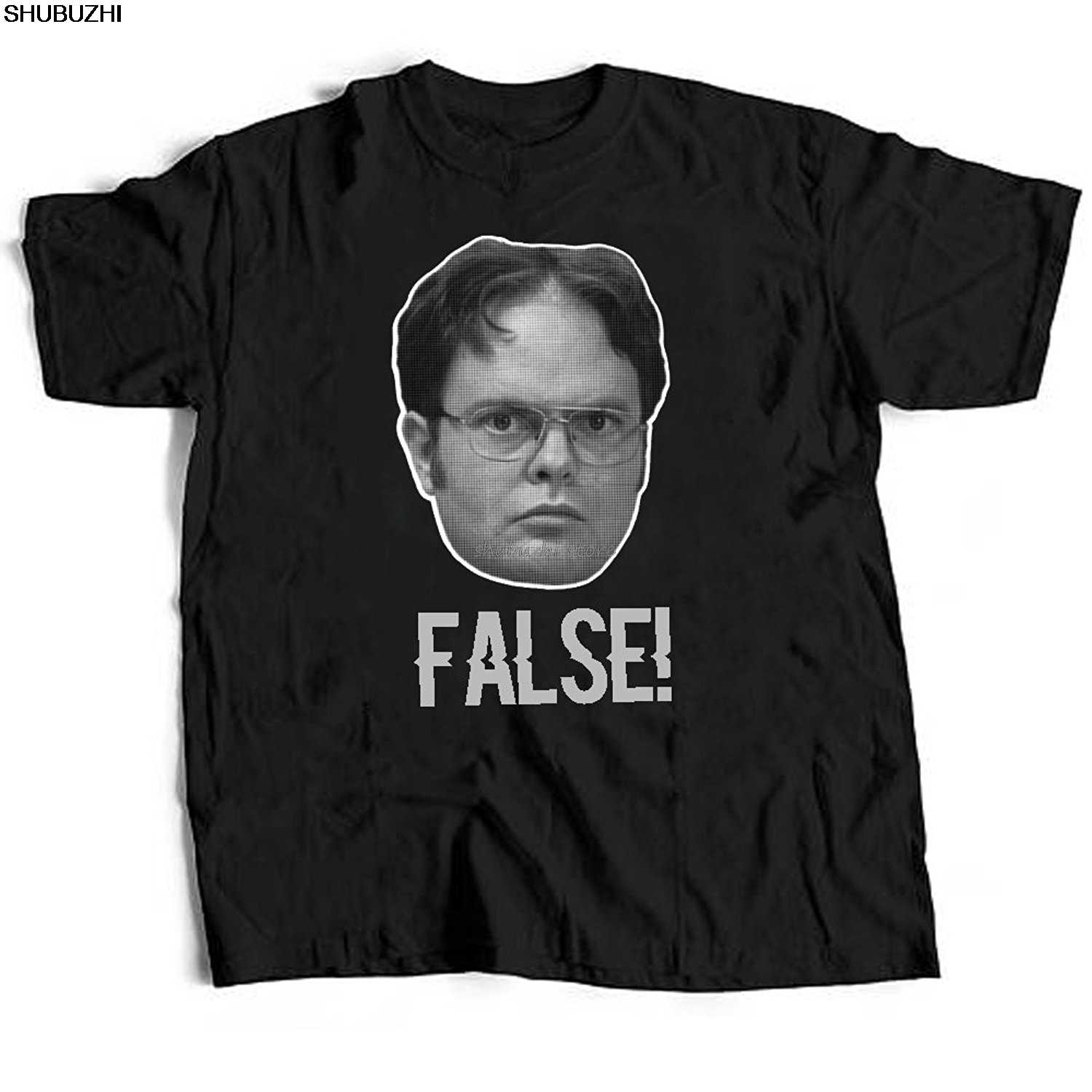 Ufficio Falso Dwight Schrute TV Show Adulti uomo Graphic Tee T-Shirt sbz1152